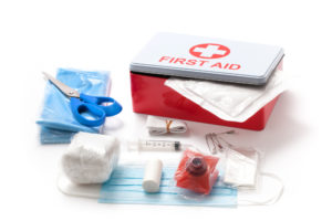 First aid box and first aid equipment