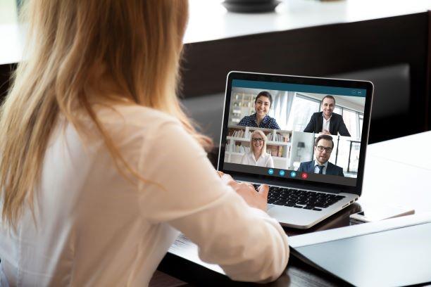 Woman in a teams meeting